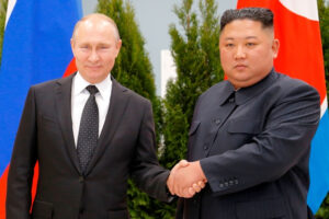 Vladimir Putin Kim Jong Un Hold First Ever Talks