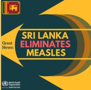 Sri Lanka eliminates measles_50.1