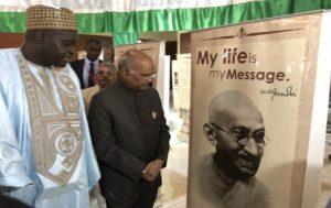 President Kovind inaugurates exhibitions on M. Gandhi and Khadi in Gambia_50.1