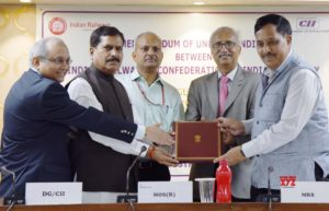 Railway ministry signs MoU with CII_50.1