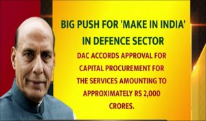 DAC approves Capital Procurement of Rs 2,000 crores_50.1