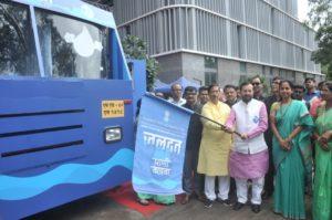 I&B Minister Prakash Javadekar flagged off Jaldoot vehicle in Pune_50.1