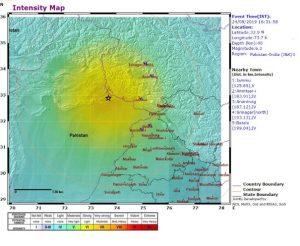 Earthquake strikes in Pakistan & India (J&K) Border region_50.1