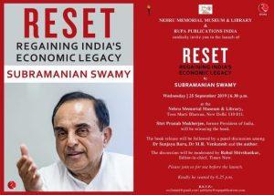 Pranab Mukherjee launches the book titled 'Reset: Regaining India's Economic Legacy'_50.1