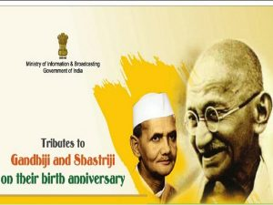 Nation pays homage to Mahatma Gandhi on his 150th and Lal Bahadur Shashtri on his 115th birth anniversary_50.1