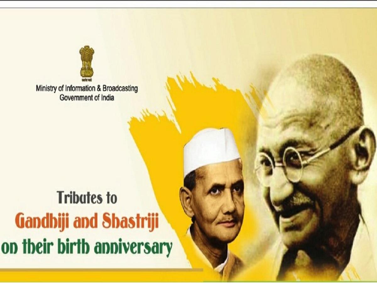 nation pays homage mahatma gandhi lal bahadur shashtri birth