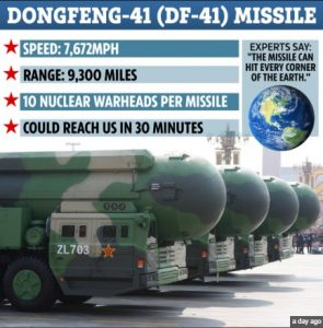 China unveiled DF-41 the most powerful intercontinental-range ballistic missile on the planet_50.1