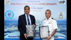 GRSE delivers fast patrol vessel, 'Annie Besant' to Indian Coast Guard_50.1