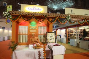 Nitin Gadkari Inaugurates Khadi Pavilion at I.I.T.F_50.1