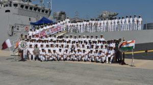 1st Indo-Qatari joint Naval Exercise Za'ir-Al-Bahr begins in Doha, Qatar_50.1