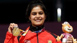 Manu Bhaker bags gold medal in ISSF World Cup Finals_50.1