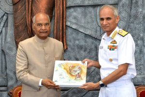 Indian Naval Academy awarded President's Colour_50.1