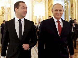 Russian PM Dmitry Medvedev submits resignation to Putin