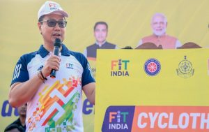 Union Sports Minister flag off 'Fit India Cyclothon' in Panaji_50.1