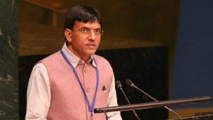 Union Minister Mansukh Mandaviya participate at UNAIDS Programme_50.1