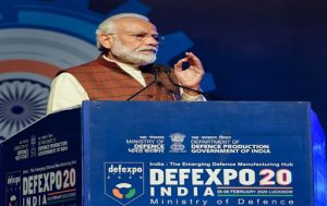 Prime Minister of India sets target at DefExpo of 5 billion dollar USD in upcoming 5 years_50.1