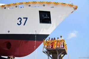 "6th Coast Guard Offshore Patrol Vessel ""VAJRA"" launched_50.1"