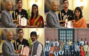 61st annual Lalit Kala Akademi awards conferred by President Kovind_50.1