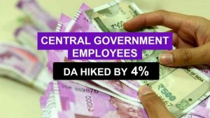 Cabinet hiked dearness allowance by 4% for central government employees_50.1