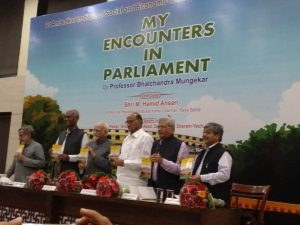 """""""My Encounters in Parliament"""" authored by Bhalchandra Mungekar released_50.1"""