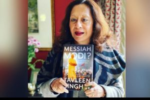 A book entitled 'Messiah Modi: A Great tale of expectations' penned by Tavleen singh_50.1