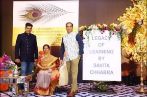 A book title 'Legacy Of Learning' authored by Savita Chhabra released_50.1