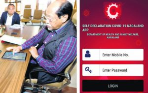 Neiphiu Rio launches Self Declaration COVID-19 Nagaland App_50.1