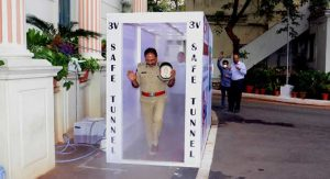 'V Safe Tunnel' installed in Telangana to sanitize people_50.1