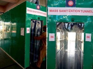 Ahmedabad station becomes 1st station to get sanitizing tunnel_50.1