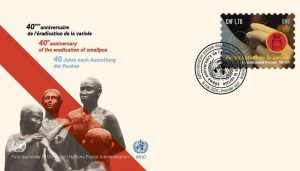 WHO, UN's release postage stamp on 40th anniversary of smallpox eradication_50.1