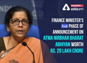 "FM announces 3rd tranche of measures for ""Aatmanirbhar Bharat Abhiyan""_50.1"