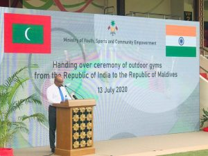 India hands over outdoor fitness equipment to Maldives_50.1
