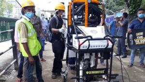 Guwahati gets manhole cleaning robot 'BANDICOOT'_50.1