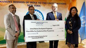 India-UN Development Partnership Fund: India contributes USD 15.46 mn_50.1
