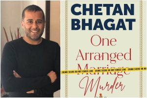 A book titled 'One Arranged Murder' authored by Chetan Bhagat_50.1