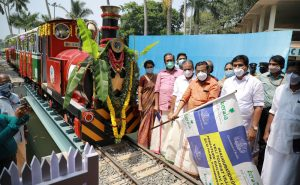India's 1st solar-powered miniature train launched in Kerala_50.1